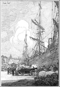 "Robert Franklin Booth - illustration from ""The Car That Went Abroad"" by Albert Bigelow Paine, Century Magazine ~ July and August/1914"
