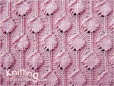 Palm Tree Puff stitch.  Nice, textured knit stitch