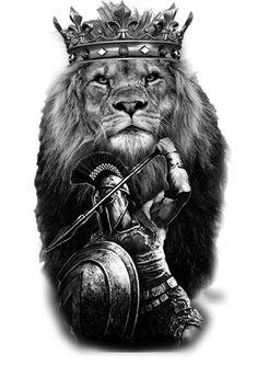lion et sparta - Tattoo ideen - Lion Tattoo Sleeves, Best Sleeve Tattoos, Tattoo Sleeve Designs, Tattoo Designs Men, Lion Forearm Tattoos, Lion Head Tattoos, Mens Lion Tattoo, Gladiator Tattoo, Sparta Tattoo