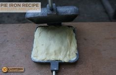 Pie Iron Biscuits And Gravy - A Camping Breakfast   50 Campfires