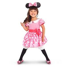 Pink Minnie Mouse Costume for Toddler Girls