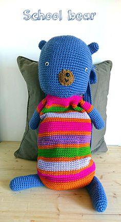 Simpatico zainetto alluncinetto a forma di orso, colorato zaino a strisce per i vostri bambini, pratico, grande, morbido, leggero e capiente. Ho