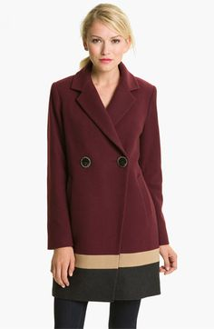Vince Camuto Colorblocked Wool Blend Coat available at #Nordstrom