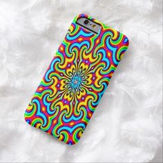 Cosmic Flowers Airbrush Art iPhone 6, Barely There Case by BOLO Designs.