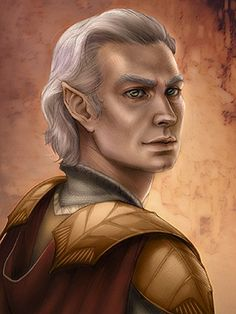 elderly male elf - unusual, most are portrayed younger