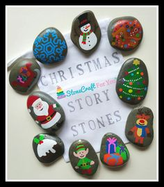 Christmas Story Stones  You can find me on facebook https://m.facebook.com/stonecraftforyouuk
