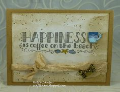 *{CraftChaos}*: Summer Coffee Lovers Blog Hop: Day 1