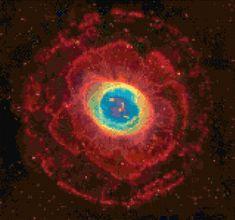 Ring Nebula M57 Hubble Telescope Cross Stitch pattern PDF - Instant Download! by PenumbraCharts on Etsy
