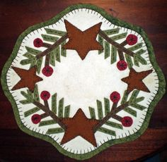 PENNY RUG E PATTERN ~ SPRUCE and STARS Instant Download