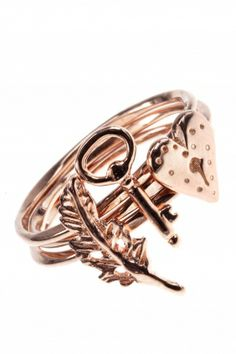 lovely symbol I rose gold plated #stacking #ring #set I designed for NEW ONE I NEWONE-SHOP.COM