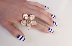 My Nautical Nails - Watch my video on how to do this here: http://youtu.be/XpL_VlfQFHo