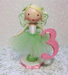 Custom Clothespin Doll Birthday Cake Topper  by enchantedbelles, $35.00