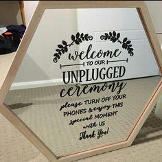 Wedding sign decal idea