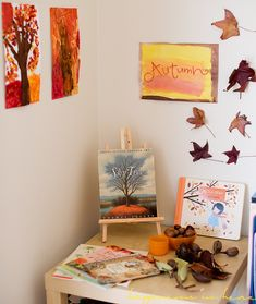 Great ideas for marking the seasons. Including a season wall, season tray, and seasonal sensory tables. Autumn Activities, Toddler Activities, Fun Activities, Fall Crafts, Crafts For Kids, Season Calendar, Waldorf Kindergarten, Oak Meadow, Middle School Writing