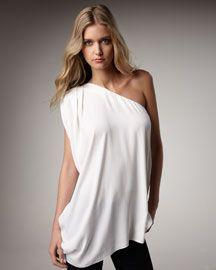 Love a billowy top.  Rachel Zoe Marie One-Shoulder Top