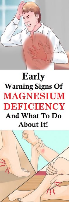 The good news is that you can detect magnesium deficiency if you pay attention to the early signs. Here's a list of symptoms of magnesium deficiency: