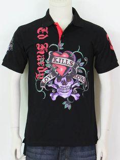 9657e256ad Mens Ed Hardy Exploding Skull L S Tee in Black  570534-cloth ...