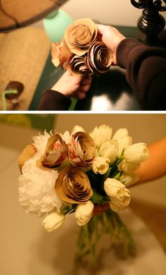 DIY Brown Paper bags bouquets