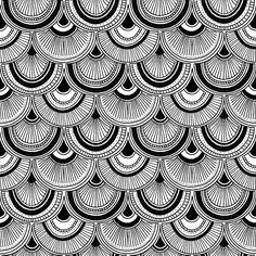 Fish Scales: Technical repeat fabric design