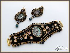 Nice set. Loving the shape and embellishment of the bracelet. Great design.
