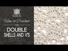 How to Crochet the Fan and V Stitch. For written instructions and photos please visit: . This video crochet tutorial will help you learn how to crochet the fan and v stitch. This stitch creates a fun fan pattern. The fan and v stitch w Stitch Crochet, V Stitch, Tunisian Crochet, Knit Crochet, Slip Stitch, Free Crochet, Moss Stitch, Linen Stitch, Crochet Chain
