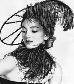 Carmen Dell' Orefice in a hat by John Fredericks Millinery _ 1951