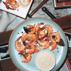 Peel-and-Eat Spiced Shrimp with Chipotle Remoulade