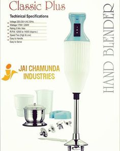 Jai Industries: Super CHEF Your Kitchen's Power House brought to y. Hand Blender, Bring It On, Industrial, Kitchen, House, Cooking, Home, Industrial Music, Haus