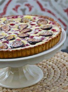 Fig & Raspberry Clafoutis Tart