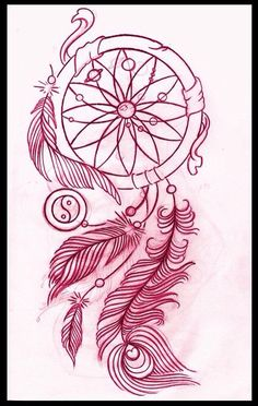 This is an incredible dream catcher tattoo design.It would have been awesome to have incorporated my peacock tattoo with my future dream catcher one. Atrapasueños Tattoo, Tatoo Henna, Piercing Tattoo, Body Art Tattoos, Tattoo Drawings, New Tattoos, Tattoo Thigh, Tatoos, Tattoo Pics