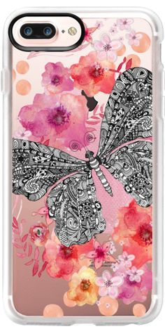 Casetify iPhone 7 Plus Case and iPhone 7 Cases. Other Butterfly iPhone Covers - Flower Butterfly by Monika Strigel | Casetify