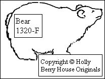 Bear Rubber Stamp--for Noah's Ark or other uses!  Designed by Kathryn Read at Holly Berry House Originals, go to www.hollyberryhouse.com