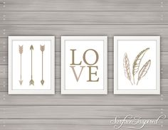 Nursery wall art print Love Arrows Surface Inspired kids room decor custom baby print - Unframed Prints