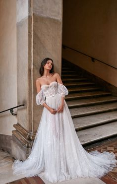 "Gali Karten 2020 Wedding Dresses — ""Rome"" Bridal Collection 1 - I Take You Wedding Dress Sleeves, Best Wedding Dresses, Boho Wedding Dress, Bridal Dresses, Lace Dress, Weeding Dress, Dress Red, Celebrity Wedding Gowns, Designer Wedding Dresses"