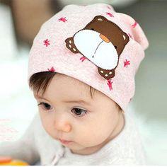294961fdbcd Baby Hats Kids Boys Girls Caps Cartoon Dog Print Knit Cap Newborn Toddler  Beanie Crochet Hat