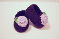 Knit Baby Shoe PDF Pattern For Girls Instant Download
