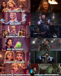Marvel quotes & memes on - Funny Superhero - Funny Superhero funny meme - - Marvel Memes : So is Thor a Disney princess? The post Marvel quotes & memes on appeared first on Gag Dad. Marvel Jokes, Funny Marvel Memes, Avengers Memes, Funny Memes, Hilarious, Marvel Avengers, Funny Quotes, Funny Disney Jokes, Disney Memes