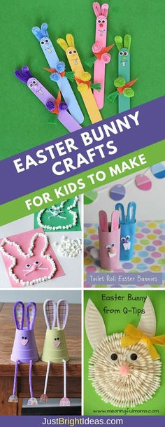 10 Adorable Easter Bunny Crafts for Kids to Make this Weekend is part of Cute Kids Crafts Easter Hop Hop Hop like a Bunny! Don& miss these super cute Easter bunny crafts for kids to make perfect f - Easter Arts And Crafts, Bunny Crafts, Spring Crafts, Holiday Crafts, Easter Activities, Craft Activities, Diy Niños Manualidades, Craft Stick Crafts, Craft Sticks