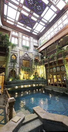 Oh my god. Indoor pool, Sami Angawi's House Jeddah