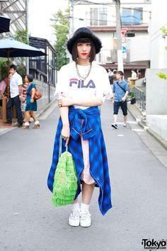Ketsumo wearing fashion from several popular Tokyo resale shops including Mouse Koenji, Bubbles Harajuku, Pin Nap & Funktique.