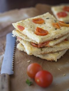 Whole Wheat Focaccia With Cherry Tomatoes and Oregano