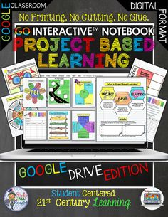 GO Interactive Digital Notebook Project Based Learning. Project based learning projects help students take the information they are learning and apply it to real world situations. This helps students learn the content faster.