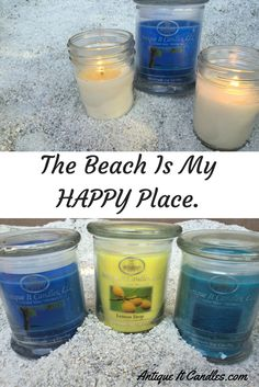 The smell of the ocean never gets old. https://www.antiqueitcandles.com  Escape with scent today.
