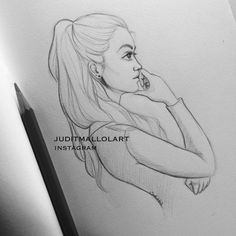 "Judit Mallol on Instagram: ""A doodle of the photo I took of my lady @laialopezz couple of days ago in class """