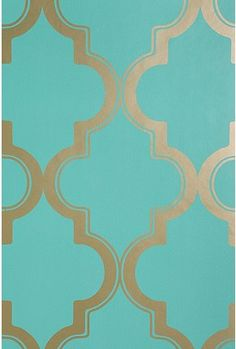 Wallpaper in Marrakesh Honey | Urban Outfitters: I may get this for my dining room.