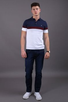 Jutland Short Sleeved White Polo Shirt Jutland Short Sleeved White Polo Shirt in Burgundy, Navy & Wine Our Jutland Short Sleeved White Polo Shirt features: Button down polo With contrasting chest panel, collar & buttoning Cotton- Cool Machine Wash Fashion Wear, Trendy Fashion, Mens Fashion, Casual Street Style, Work Casual, Modern Gentleman, Weekend Fun, Preppy Outfits, Men's Apparel