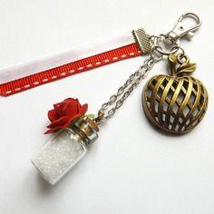 """Bijou de sac/porte-clés vintage, """"blanche-neige"""""""
