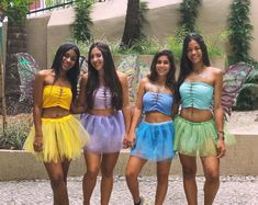 Click carnival costume with friends diy fantasia fada de carnaval com as amigas como fazer Girl Group Halloween Costumes, Purim Costumes, Cute Costumes, Carnival Costumes, Halloween Kostüm, Couple Halloween, Halloween Outfits, Halloween Kleidung, Fantasias Halloween
