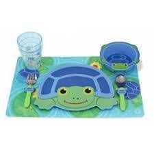 Conjunto de refeição tartaruga - melissa doug