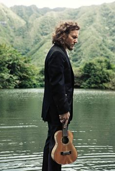 Eddie Vedder...how is it that he is still so hot...and holding a ukulele?